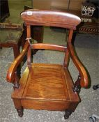 Victorian Camode chair