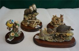 3 Border Fine Art models. Blue Tit, Hedgehogs and Field Mice.