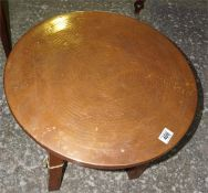 Copper topped occasional table