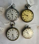 Gents octagonal pocket watch by Elgin watch company USA and a Cyma gents pocket watch 2nd world wa
