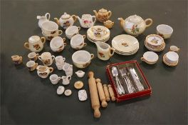 Late 19th century child's tea and dinnerware set etc.