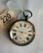 Gents silver pocket watch by H Samuel