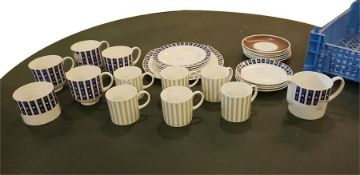 Part tea set & set of coffee cups & saucers by Susie Cooper