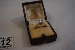 18 ct gold solitaire brilliant cut diamond ring