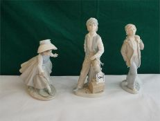 3 Spanish porcelain figurines