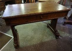 19th century mahogany side table with single drawer