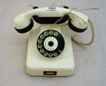 Austrian Bakelite 1940's telephone (has been re-wired to use with modern lines)