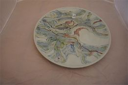 Studio pottery charger, a one off piece by renowned potter David Walters from his studio in Norfolk