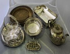 Box of miscellaneous silver plated wares