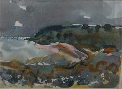 "Archie Sutter Watt RSW (British 1915 - 2015) ""Scottish Moorland Scene"" Watercolour signed and dated"