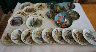 Selection of decorative wall plates, some limited edition