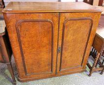 Victorian Pollard Oak two door linen cabinet
