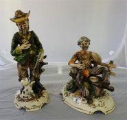 Two Capo di monte style figures