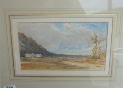 A Watercolour of Highland scene unsigned, after J D Harding