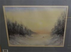 """A Watercolour entitled """"After the storm"""" by A Lancaster"""