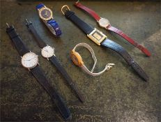 Collection of six assorted watches, including a ladies Seiko Quartz watch