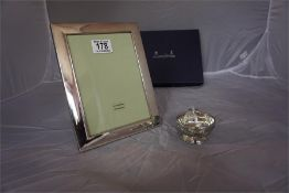 Mappin & Webb Hallmarked silver Photo Frame in fitted box