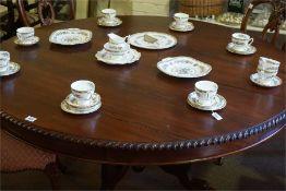 A Coalport Ming Rose pattern bone china tea set