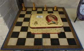 Chad valley chess set and a Parker brothers U.S.A club checker set