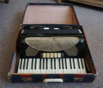 "A Hohner ""Verdi IV"" Accordion with fitted box"