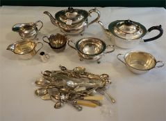 Collection of miscellaneous silver plated wares