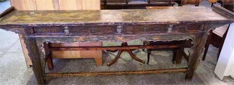 Chinese Hardwood side table,