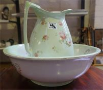 Pottery toilet ewer with basin (2)