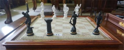 The chess set of the gods by Stuart Mark Feldman for Franklin Mint LTD
