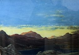 Limited Edition Print of the Hills of Chon by D Y Cameron