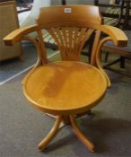 Reproduction Beech and Bentwood desk chair