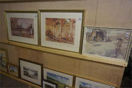 Three Framed Sir William Russell Russell Flint Prints