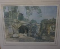 Limited edition print by Sir William Russell Flint, number 834 of 850 of ladies in barn