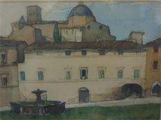 William Crozier (Scottish 1897-1930) 'Assisi' watercolour