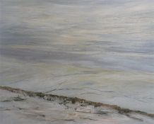 A framed Oil on canvas entitled Winter at Wooden Law, signed Alan Turner and dated 1981