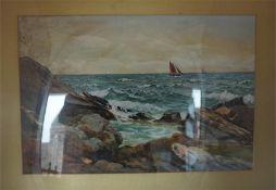 James Aitken (Scottish 1880 - 1935) Sea scene Watercolour