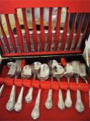 A Twelve Piece Kings Pattern Stainless Steel Canteen of Cutlery