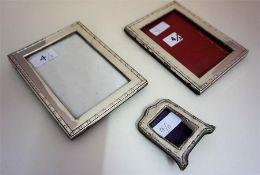 Three Silver Photograph Frames