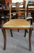 A Regency Mahogany Dining Chair with