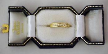 An 18ct Gold & Diamond Ladies Dress Ring