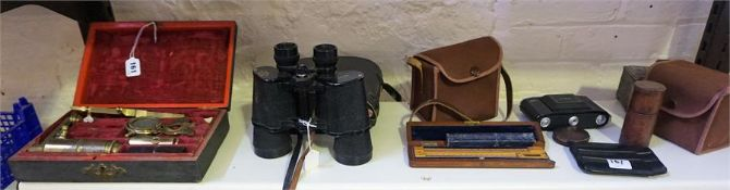 A Mixed Lot Of Binoculars, Cameras & Instruments