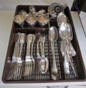 A Mixed Lot Of 19th Century Silver Plated Flatware