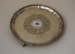 A Sterling Silver Card Tray