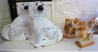A Pair Of Large Spaniel Dog Figures