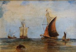 Sailing Boats At Sea, Unsigned