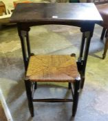 A Stained Oak Organ Stool