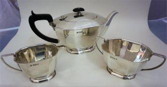 A Silver Three Piece Tea Set