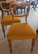 A Pair Of Victorian Maple DIning Chairs