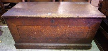 A Victorian Pine Blanket Box