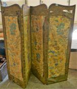 A 19th Century Three Fold Mahogany Draught Screen