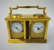 A French Gilded Brass Combination Cased Carriage Clock, Circa 1900